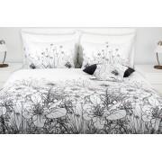 1 Glamonde Povlečení s květinovým vzorem Concetta černobílá 2×70x90 cm 200x200 cm zipové
