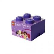 LEGO Friends Storage Brick 4, Storage Box, Lego Box, Toy Container Box, Purple, RC40031746