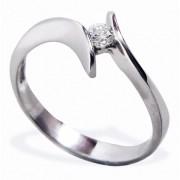 Anillo De Compromiso Solitario Diamond Desing Diamante Natural 15 Puntos Con Montadura De Oro Blanco De 14 Kilates