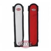 Bezpečnostní blikací návlek na obojek či vodítko 16cm - červeno/černá