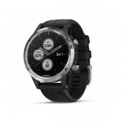 Garmin fenix 5 Plus, srebrni s crnim remenom 010-01988-11