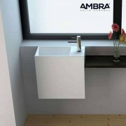 Ambra Lave-mains suspendu - Palma en Solid surface