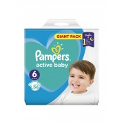 Scutece Pampers Active Baby Giant Pack 6 Extra large, 13-18 kg, 56 buc