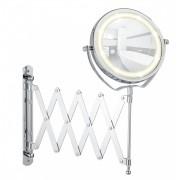 WENKO LED Kosmetikspiegel Brolo, Wandspiegel, 3-fach Vergrößerung