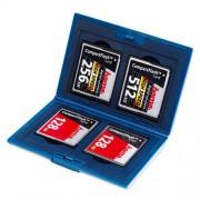 Hama Minneskortsväska Silver Compact Flash 4 Kort