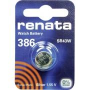 Baterie buton oxid de argint 386, 1,55 V, 130 mAh, Renata