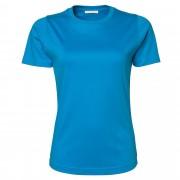 Tee Jays Womens/dames Interlock Short Sleeve T-Shirt Azure Blue 3XL