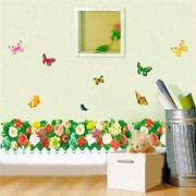 TipTop Wall Stickers (Colorful Flower & fjäril)