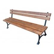 Zahradní lavice Královská 150 cm, litina, olše, bez područek, lakovaná - 150