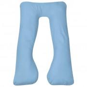 vidaXL Coussin de grossesse 90 x 145 cm Bleu clair