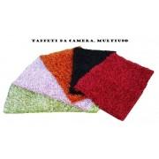 Tappeto shaggy camera sala bagno 55x85 colorato tinta unita pelo morbido
