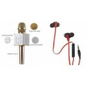 Zemini Q7 Microphone and Earphone Headset for SONY xperia z4v(Q7 Mic and Karoke with bluetooth speaker Earphone Headset )