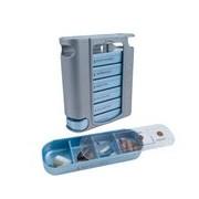 Pilbox 7 caixa de medicação semanal cores sortidas - Pilbox