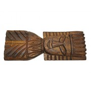 Sanskrite India Hand-Carved Wooden Statue Home Wall Décor Tribal Art