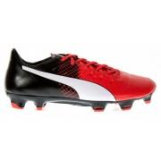 Puma voetbalschoenen EvoPower 3.3 FG Jr zwart/rood mt 28