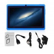 7-pulgadas De Pantalla 1024*600 Niños Enchufe UK Quad-Core De Tablet PC 512MB +8GB Pad Azul Oscuro