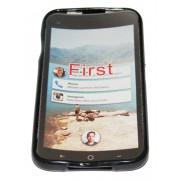Силиконов гръб ТПУ за HTC First Черен