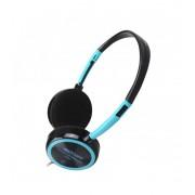 Astrum HS210 Compact Stereo Headphones + Mic Blue