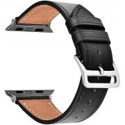 Wotchi Kožený řemínek pro Apple Watch Černý 38/40 mm