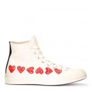 Comme des Garçons Play Sneaker Comme des Garçons Play x Converse alte beige con cuori
