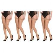 Neska Moda Women 4 Pair Nylon Skin Thigh Highs Stockings STK2 4Set