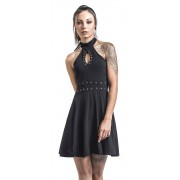 Fashion Victim Turn Up Dress Jurk zwart