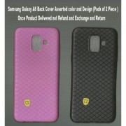 Samsung Galaxy A6 Back Cover Assorted color and Design (Pack of 2 Piece )