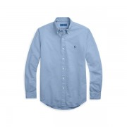 Big & Tall Garment-Dyed Oxford Shirt - Bastille Blue - Size: BIG 5X