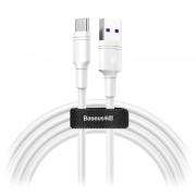 Cabo USB-C SuperCharge Baseus DZ-SMT Double-ring - 5A, 2m - Branco
