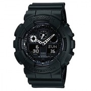 Casio G-Shock Analog-Digital Black Dial Mens Watch - GA-100-1A1DR (G270)