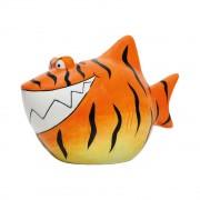 Merkloos Dieren spaarpot oranje tijgerhaai 13 cm