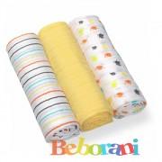 Комплект меки пелени жълти Babyono