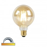 LUEDD E27 LED G95 Gold Filament 8W 900LM 2000K - 2600K Dimmable