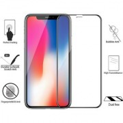 DY Dust free 3D Case Friendly Tempered Glass Screen Protector Round Edge for iPhone X 10 with installation Kit