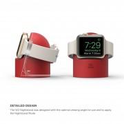 Elago W2 Watch Stand - силиконова поставка за Apple Watch (червен)