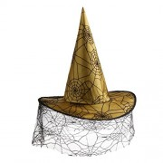 Electroprime® Wizard Hat Spiders Web Witches Hat Halloween Witch Costume Fancy Dress