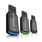 32GB USB Flash Drive, Transcend JetFlash 360, USB 2.0, черна/лилава