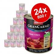 Икономична опаковка Animonda GranCarno Original Adult 24 x 800 г - говеждо и пуешко месо