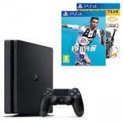 Конзола PlayStation 4 Slim 500GB Black, Sony PS4+Игра FIFA 19 за PlayStation 4+Игра The Witcher 3 Wild Hunt GOTY PS4