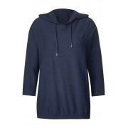 cecil Katoenen structuurshirt - dark blue melange