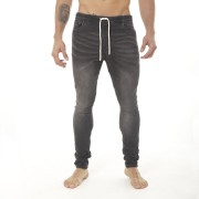 Calça Jeans Jogger Preta
