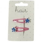Geen Roze haarspeldjes met blauwe sterren 2 stuks