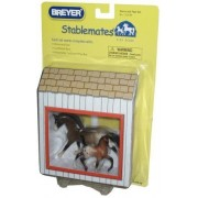 Breyer Stablemates 1:32 Scale Playset Horse And Foal With Cardboard Barn And Detachable Carboard Play Mat By Breyer