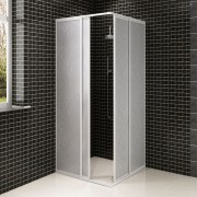vidaXL Shower Cabin Enclosure PP Board Aluminium Frame Rectangular 80 x cm