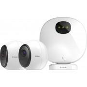 D-Link DCS-2802KT-EU Kit Telecamere di Sicurezza Wi-Fi Alimentate a Batteria Hd Visione Notturna 2 Telecamere Funziona con Alexa