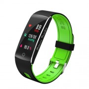 F10 0.96 inch Colorful Display 24H Heart Rate Monitor Bluetooth 4.0 Smart Fitness Bracelet for Android - Green