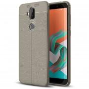 Para ASUS Zenfone 5 Lite Zc600kl Litchi Texture Soft TPU Protective Back Cover Case (gris)