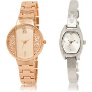 The Shopoholic White Silver Combo Treny and Precious White And Silver Dial Analog Watch For Girls Belt Women Watches