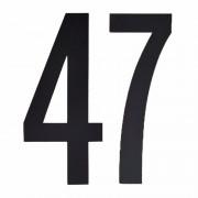 Geen Cijfer sticker 47 zwart 10 cm
