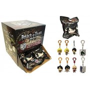 Attack On Titan Figure Hangers Mystery Blind Pack Box Of 24 Packs
